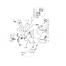 Рычаг газа пластик с нагревательным элементом компл. Тайга ЭР-27-2Р