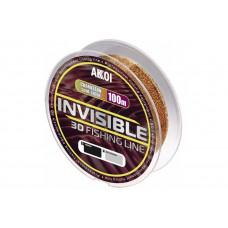 Леска Akkoi Invisible монофильная 3D 100м (хамелеон)