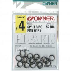 Кольцо заводное OWNER 52804 (черный хром)