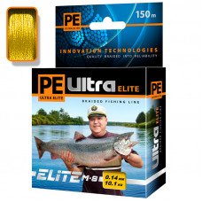 Плетеный шнур PE ULTRA ELITE M-8 Yellow 150m