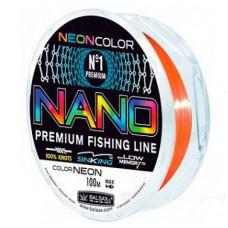 Леска Balsax Nano Neon 100 м (оранжевая)