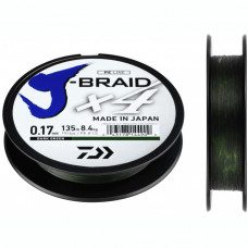 Шнур Daiwa J-Braid X4 Dark Green, 135м