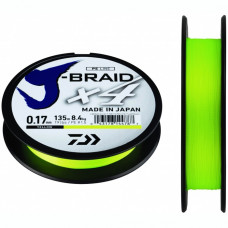 Шнур Daiwa J-Braid X4 Yellow, 135м