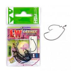 Крючок офсетный Hitfish LW Offset Hook