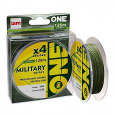 Шнур плетеный IAM №One Military X4, 125м