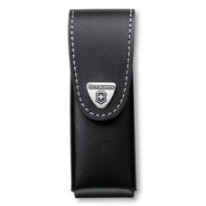 Чехол из нат.кожи Victorinox Leather Belt Pouch (4.0523.3B1) черный с застежкой на липучке блистер